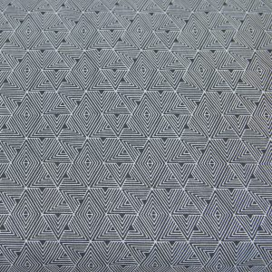 Grafitowe trójkąciki - tkanina bawełniana