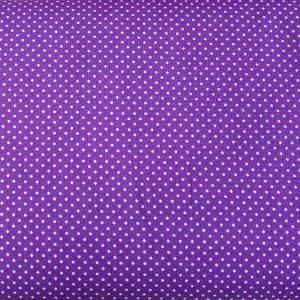 Kropeczki na ciemnym fiolecie - tkanina bawełniana