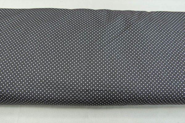 Kropeczki na grafitowym - tkanina bawełniana