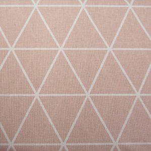 Trójkąty na pudrowym różu - tkanina bawełniana
