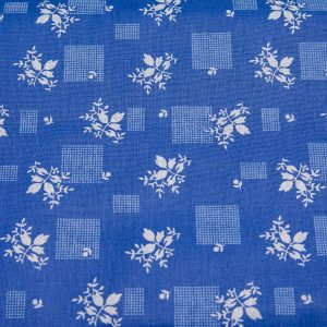 Listki i krateczki na szafirowym- tkanina bawełniana