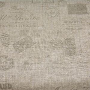 Szare znaczki - tkanina bawełniana