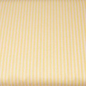 Jasnożółte paseczki - tkanina bawełniana