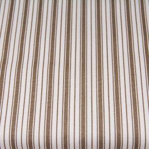 Paski szeroki-wąski ciemny beż na bieli - tkanina bawełniana