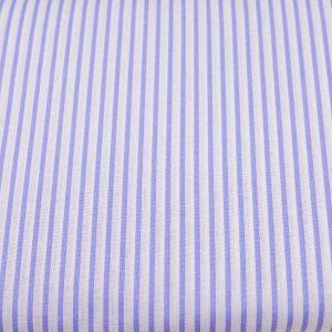 Jasnofioletowe paseczki na bieli - tkanina bawełniana