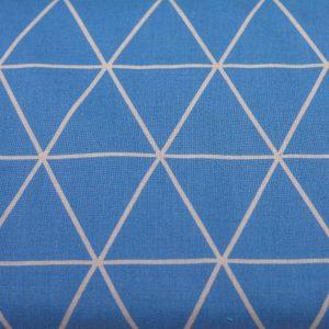 Trójkąty na niebieskim - tkanina bawełniana