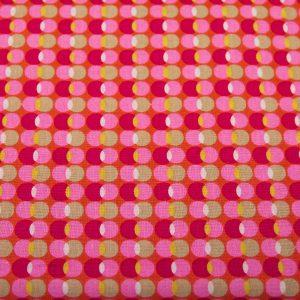 Księżyce róż-fuksja - tkanina bawełniana