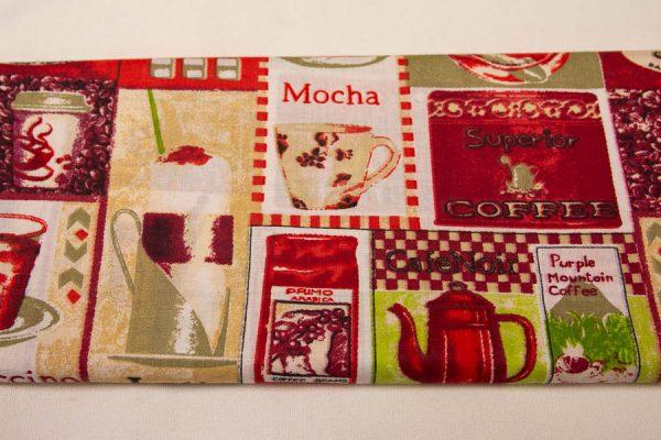 Kawiarnia czerwony patchwork