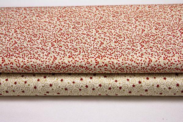Bordo-złote tkaniny świąteczne