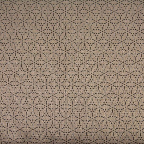 Kreski i kropki na kakaowym - tkanina bawełniana