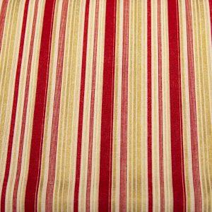 Paski złoto-bordowe - tkanina bawełniana