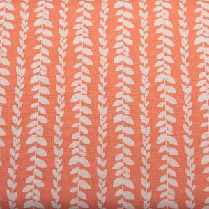 Pasiaste listki na pomarańczowym - tkanina bawełniana