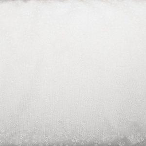 Trzy kwiatuszki białe na bieli - tkanina bawełniana
