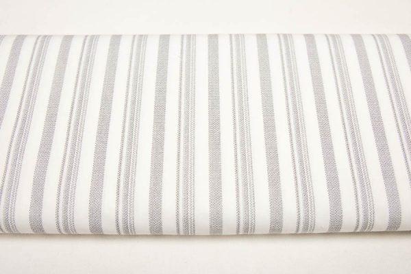Tkana pasy jasnoszare - tkanina bawełniano-poliestrowa