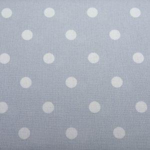 Białe grochy na błękicie - tkanina bawełniana