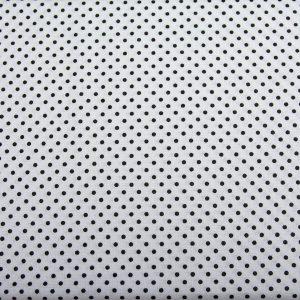 Kropeczki czarne na bieli - tkanina bawełniana