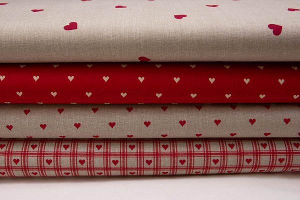 Tkaniny bawełniane w serca