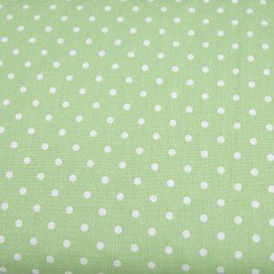 Kropki na pastelowej zieleni - tkanina bawełniana