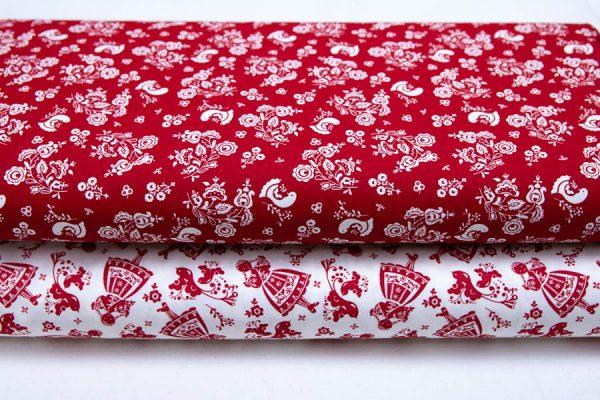 Tkaniny bawełniane czerwień