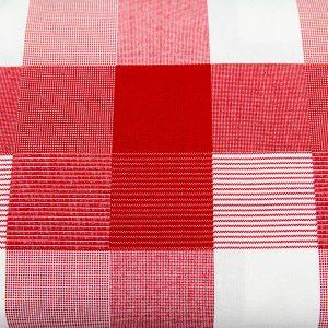 Krata w odcieniach czerwieni - tkanina bawełniana