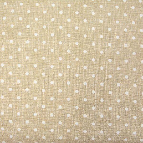 Kropki na beżowym nadruku - tkanina bawełniana