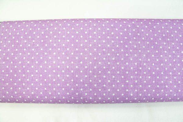 Kropki na fioletowym nadruku - tkanina bawełniana