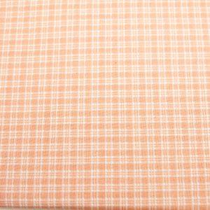 Kratka w kratkę pudrowy róż - tkanina bawełniana