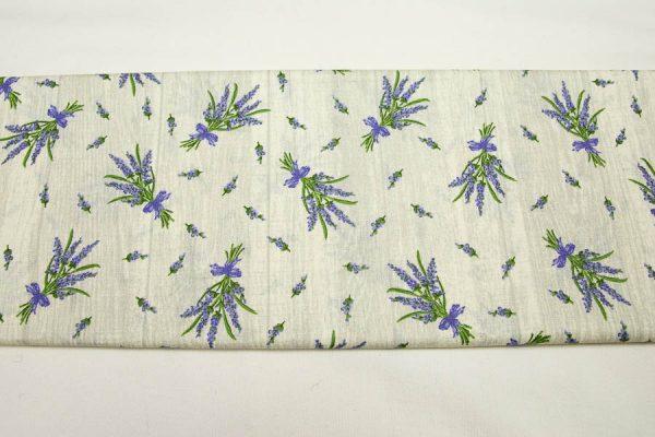 Lawenda na deskach - tkanina bawełniana