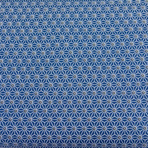Tkanina bawełniana trójkąciki na niebieskim