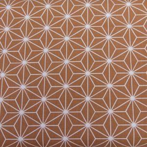 Trójkąty na brązowym - tkanina bawełniana