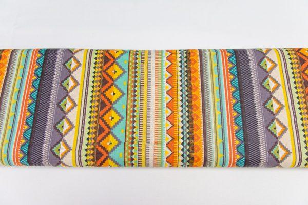 Etno wzór aztecki - tkanina bawełniana