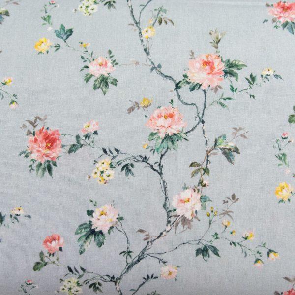 Romantyczne pnące kwiecie - tkanina bawełniana
