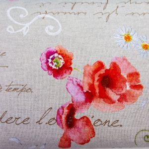 Wiersze o miłości - tkanina bawełniano-poliestrowa tkana