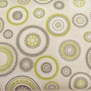 Mandale na beżu - tkanina bawełniana