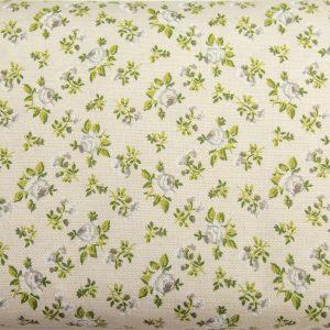 Szare różyczki na beżu - tkanina bawełniana