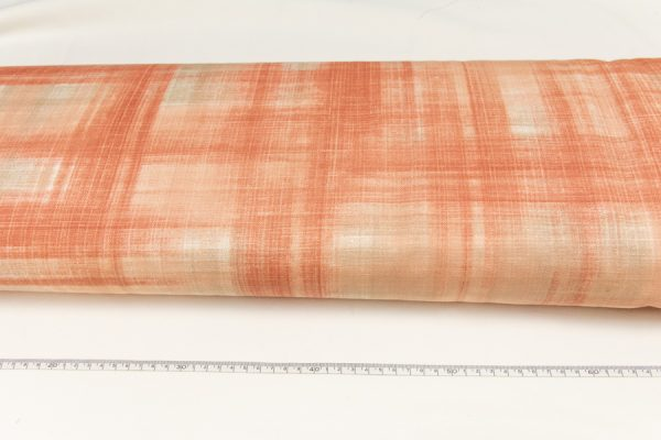 Nadruk łososiowy - tkanina bawełniano-poliestrowa tkana