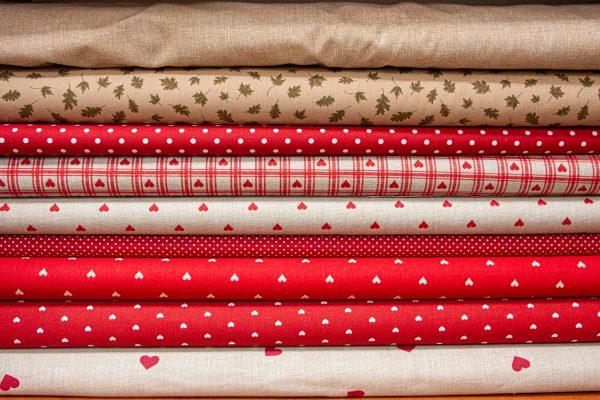 Tkaniny bawełniane w serduszka