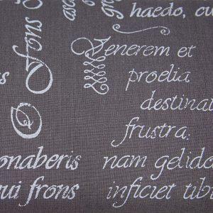 Łacińskie sentencje na graficie - tkanina bawełniana