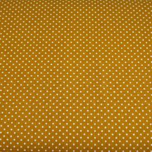 Kropeczki na ugrowym - tkanina bawełniana