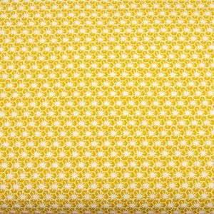Pajęczynki na miodowym - tkanina bawełniana