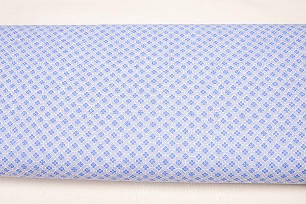 Mozaika w odcieniach niebieskiego - tkanina bawełniana