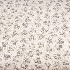 Trzy margaretki grafitowe na bieli - tkanina bawełniana