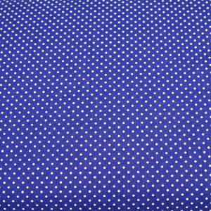 Kropeczki na ciemnoniebieskim - tkanina bawełniana