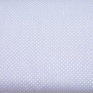Kropeczki na błękicie - tkanina bawełniana