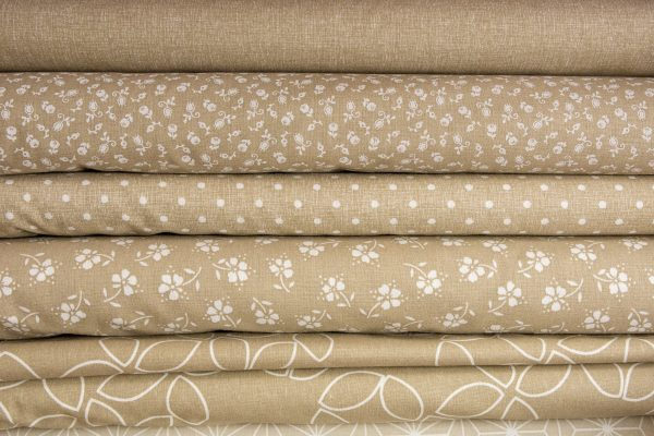 Tkaniny bawełniane beżowe