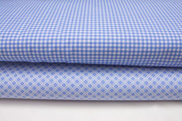 Tkaniny niebieskie bawełniane