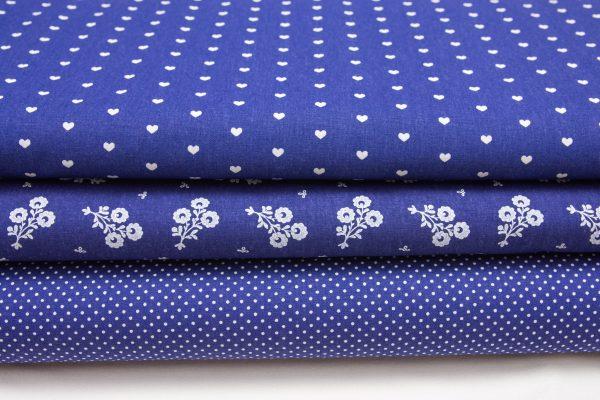 Tkaniny ciemnoniebieskie - bawełna