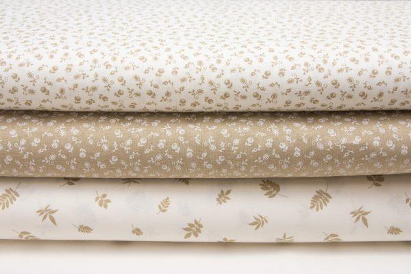 tkaniny bawełniane w odcieniach beżu