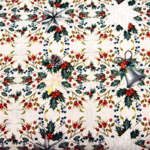 Świąteczne symbole - tkanina bawełniana premium