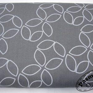 Tkanina bawełniana białe oczka na graficie